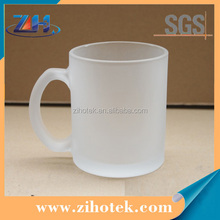 High quality 11oz sublimation frosted glass mug