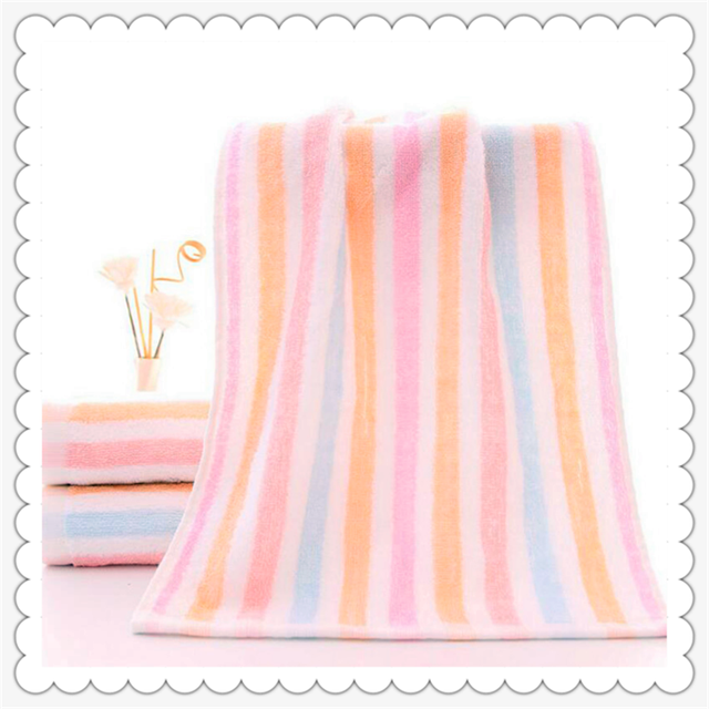 OEM accepted dyed stripes 100% cotton custom terry bath towel