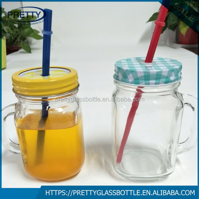 2017 Newest mason jars glass bottle importers with handle