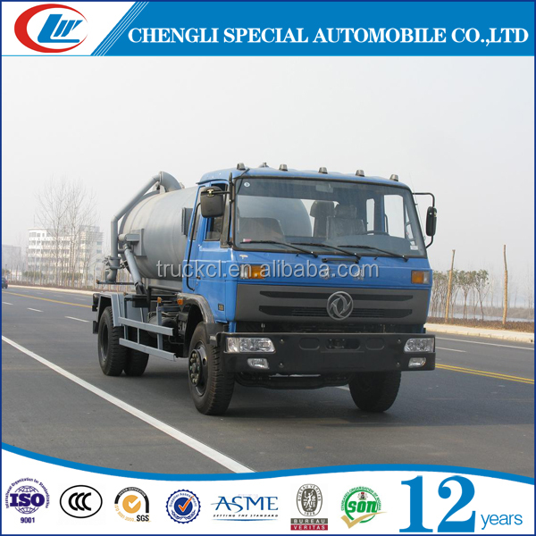 High quality dongfeng4x2 sewage suction truck 10-20cbm sewage suction tanker truck 6 wheelers vacuum suction truck