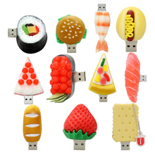 PVC Custom Food USB Flash Drive Sushi/Hamburger/Fruit Shape USB Pen drive 4GB 8GB