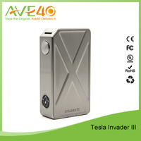 Wholesale 240W Tesla Invader III Box Mod Invader 3 Vape Mods Dual 18650 Battery