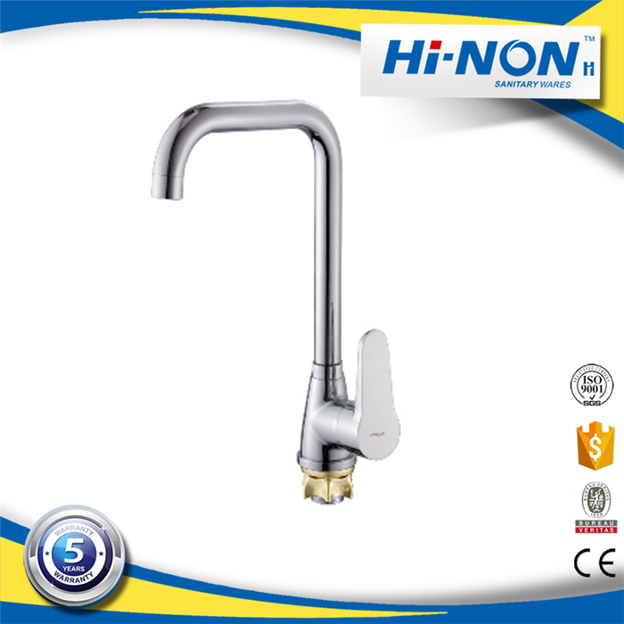Brass Chrome Finish single hole kitchen sink mixer tap faucet