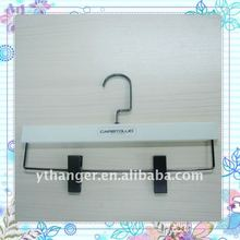 WI273 plastic rubber coated hanger with metal wire and metal clips