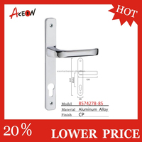 European customized aluminum alloy diacast lever door handle with plate