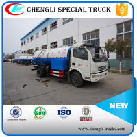 DONGFENG 4*2 6000L 125hp High Pressure Water Flushing Sewage Vacuum Suction Truck