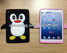 for ipad min black penguin case silicone cover