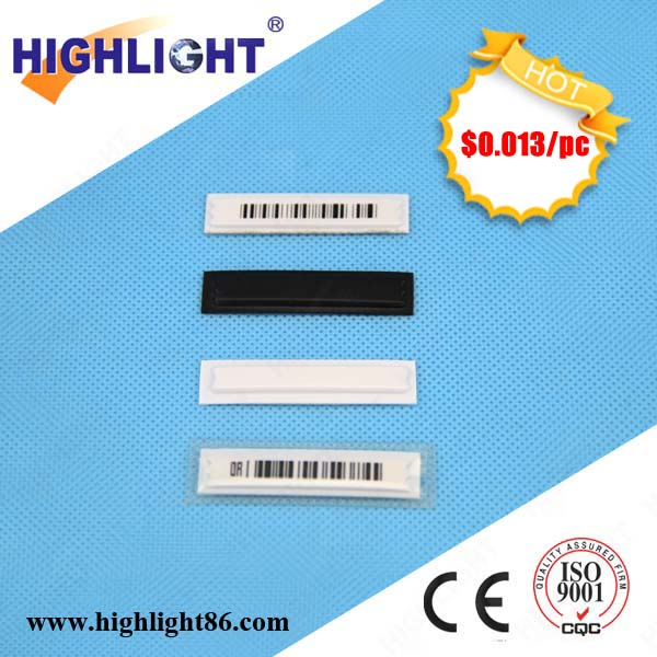Highlight anti-theft EAS acousto magnetic label security strip deactivable security soft tag AM EAS label