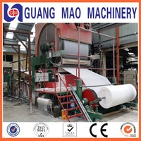 High Production paper napkin making machine price, toilet tissue paper making machine from waste paper