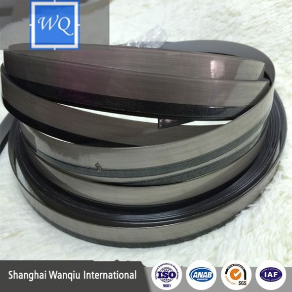 Wholesale 28mm x 1.0mm rubber pvc/abs/pmma edge banding edging trim for furniture