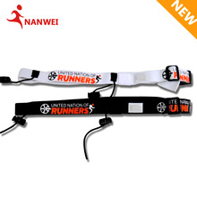 2017 New Marathon Triathlon Waist Belt With 2 cords Stopper Printed Logo Race Start Number Strap