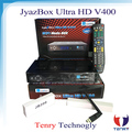 original digital satellite receiver Jyazbox ultra hd V400 with jb200 turbo 8psk and wifi universal remote control jyazbox v400