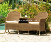 SIGMA Resin Patio Furniture Wicker Chairs Outdoor Lounge Chairs