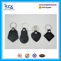 Customized size Leather NTAG213/215 ISO14443A smart rfid key fob proximity NFC key tag for cellphone NFC