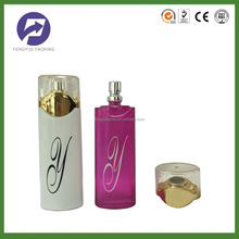 Design your own square perfume glass bottle body oil fragrance