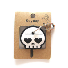 Cool skull shape key cap keychain for Halloween giveways