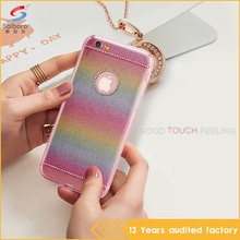 Fast delivery fashionable crystal tpu rainbow color phone case for iPhone 5