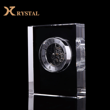 Handmade Luxurious Crystal Clock for Office Table, Crystal decoration and Crystal Crafts