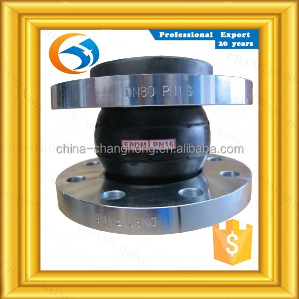 Factory price casting for pipe fittings 150lb flange connect single sphere rubber joints