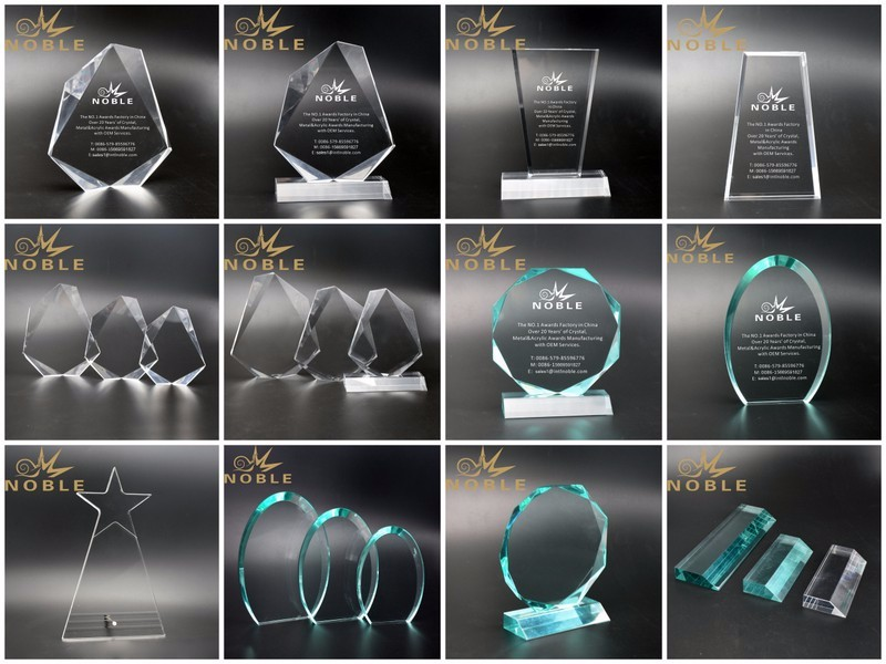 Free Engraving Jewel Shape Plaque Acrylic Awards Trophy