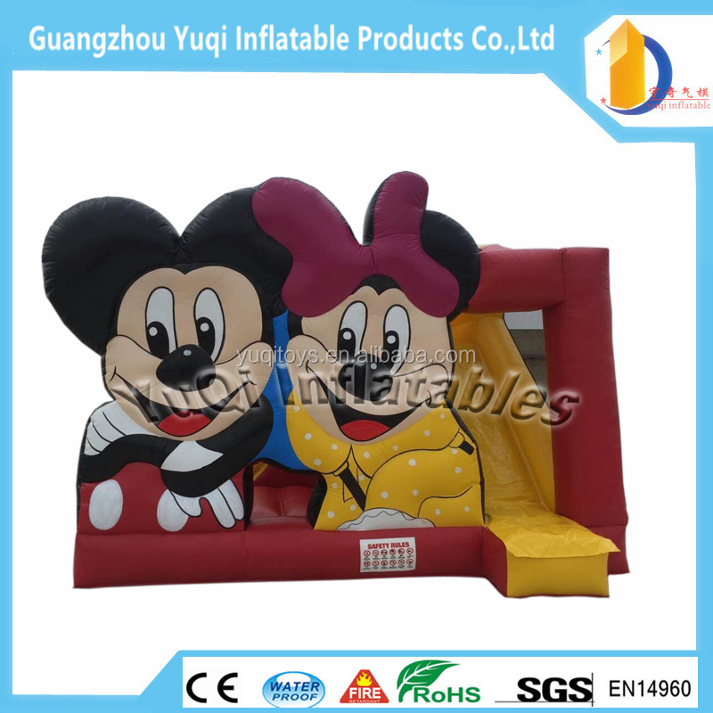 Hot!!Mickey Inflatable Bouncer For Sale ,Jumping Castle With Slide Inflatable Jumping Bed