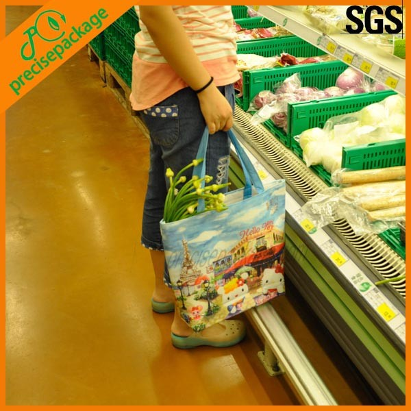eco reusable customized RPET non woven cooler shopping bag