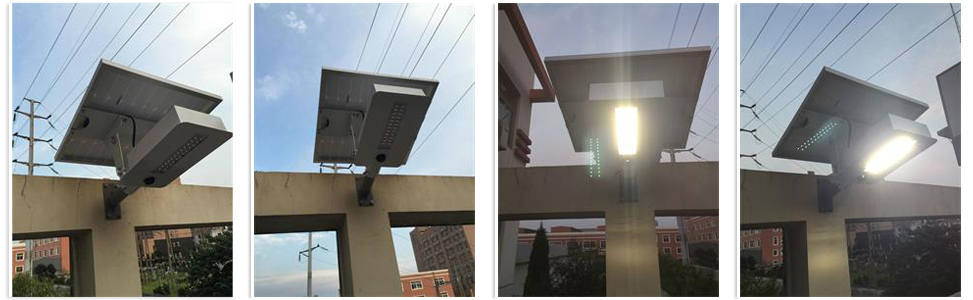 solar lights with remote control motion sensor waterproof integrated all in one solar street light