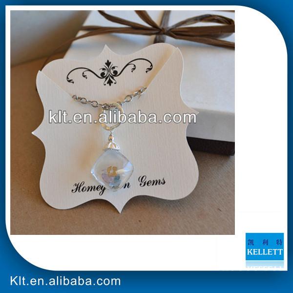Custom paper jewelry tags