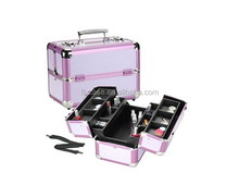 2013 new design make up/jewelry travel train case with display