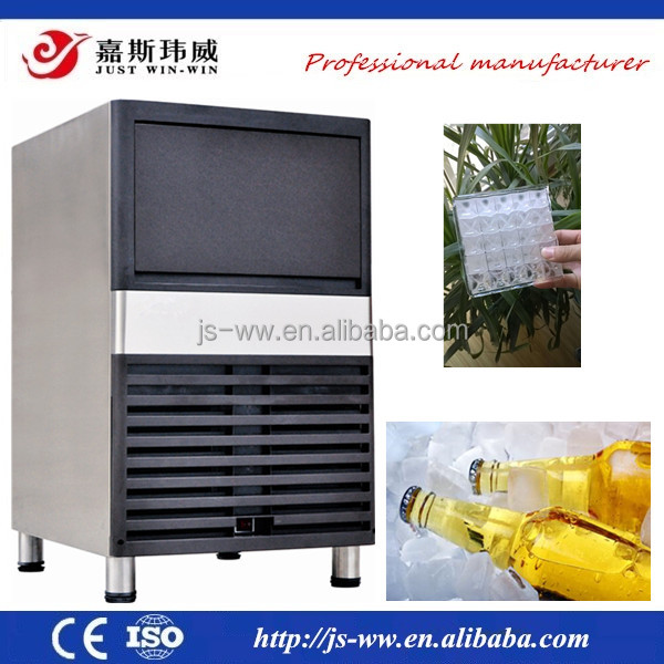 2016 Air cooled ice cube machine maker 80kg used commercial ice makers for sale