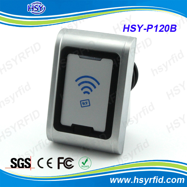 Metal case RFID contactless RS232 smart card reader with IP68 waterproof