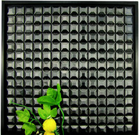 Black 5 faces square metal, stainless steel Mosaic -