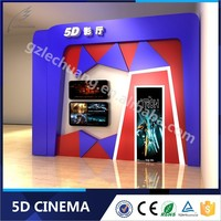 Pneumatic/Hydraulic/Electric Amusement Park Equipment 3D Movies Roller Coaster 7D Cinema