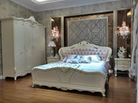baroque high back designer classic exotic french headboard rococo bed