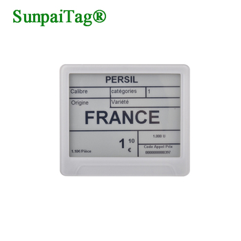 "SUNPAI ESLs 6"" e-paper wireless retail electronic shelf label companies for 3C store"