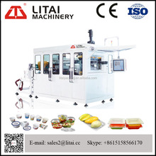 thermoforming machine for making disposable cups