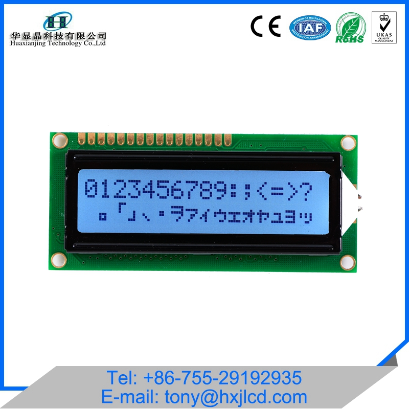 Factory price 2x16 dot matrix lcd instrument cluster
