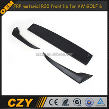 FRP material R20 front lip for VW GOLF 6