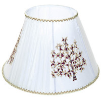 white jacquard tiffany lamp shades,Chinese OEM table light covers for hotel or drawing room