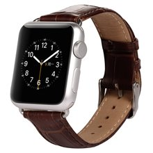 Smart Crocodile Leather Watch Band for Apple Watch 38mm 42mm + Adapter