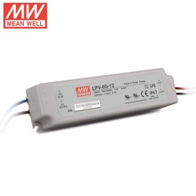 Meanwell waterproof LPV-60-48 60w 48v dc led power supply