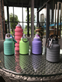 Collapsible Sports Travel Water Bottle,Leak Proof BPA Free,FDA Approved Silicone Foldable Reusable Portable Drinking Bottle,Ligh