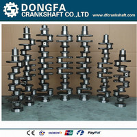 Motor ISZ crankshaft 4975048 for 13L diesel engine , customized crankshaft with crankshaft drawing