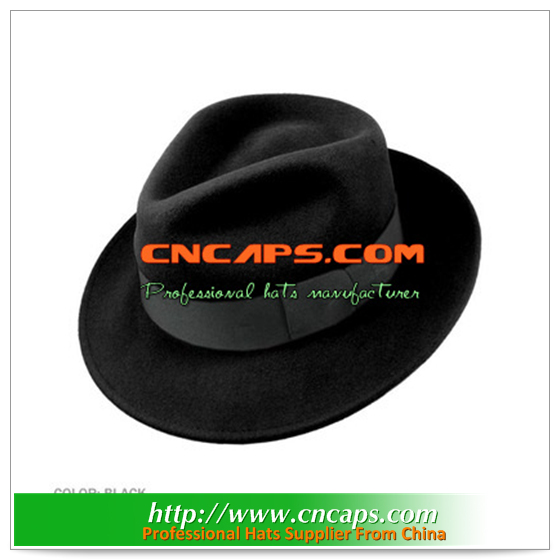 gangster fedora hats with feather decoration