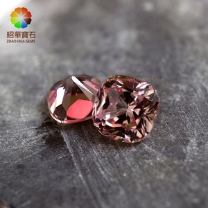 Morganite Sapphire Synthetic Corundum Cushion high quality cut Loose Gemstone wholesale sapphire loose lab created