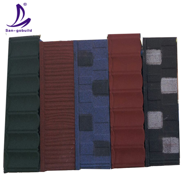 SGB001 stone coated roof tile/flat roofing tile/terracotta roof tiles price