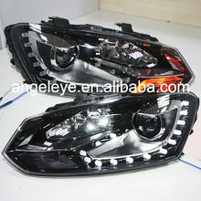 2011-2013 year Cross Polo LED Head Light DRL with Bi Xenon Projector Lens SY