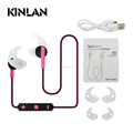 KINLAN Portable handsfree Headphones Neckband atereo Bluetooth Earphones V4.1 for all mobile phone