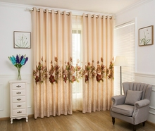 Luxury and elegant flower pattern embroidered blakout curtains and drapries