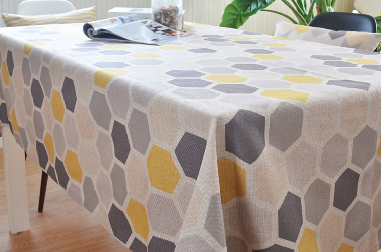New Design Cotton Linen Table Cloth With Home
